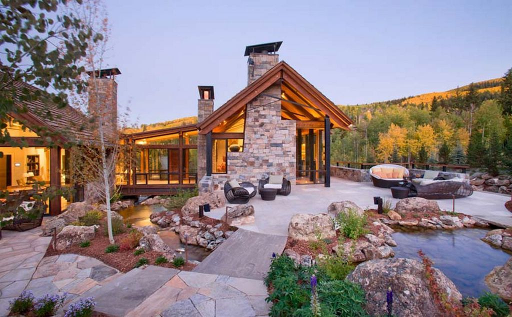 stone home plans two creeks residence natural green