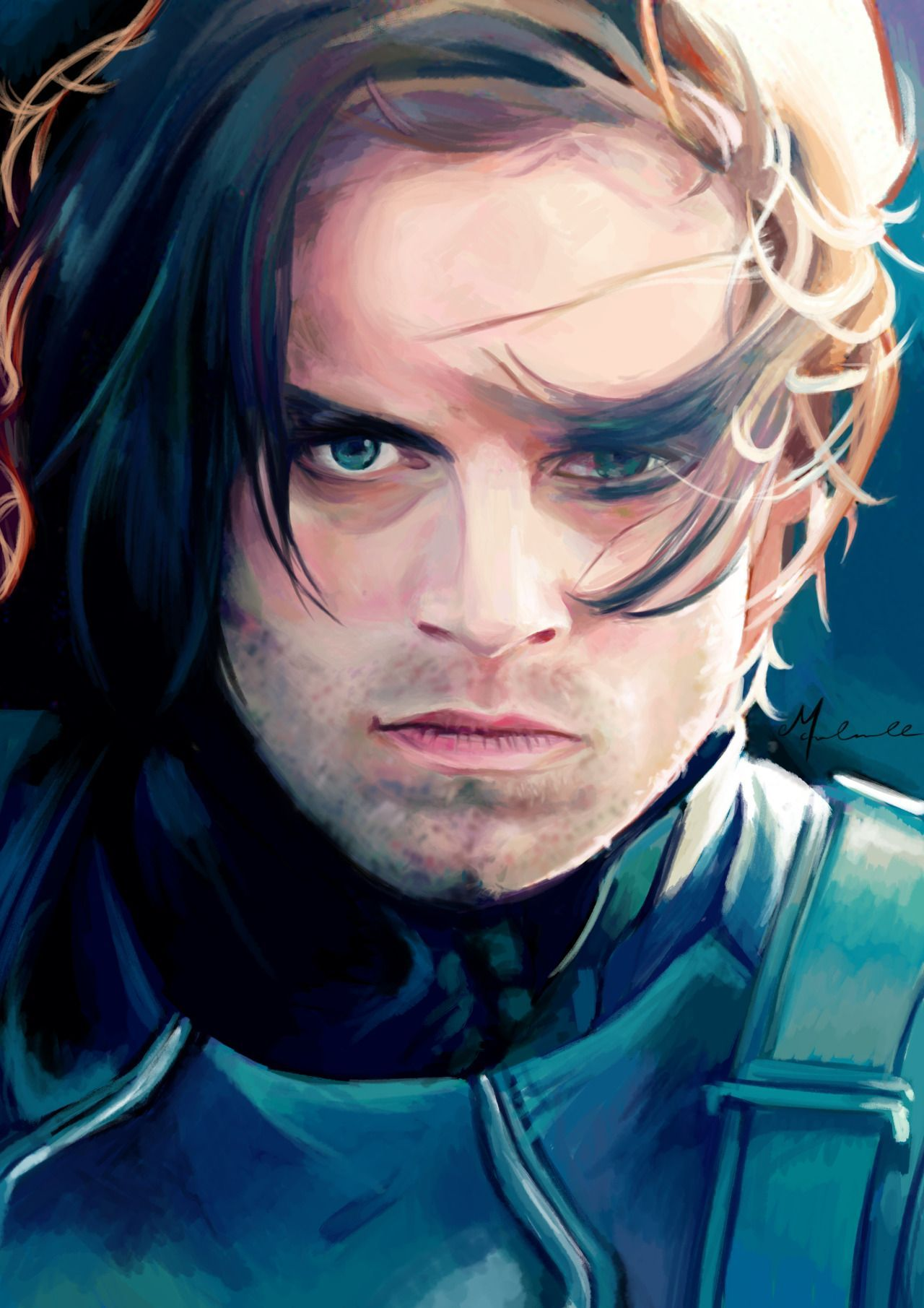 Incredible fanart The Winter Soldier | Comic drawings in 2019