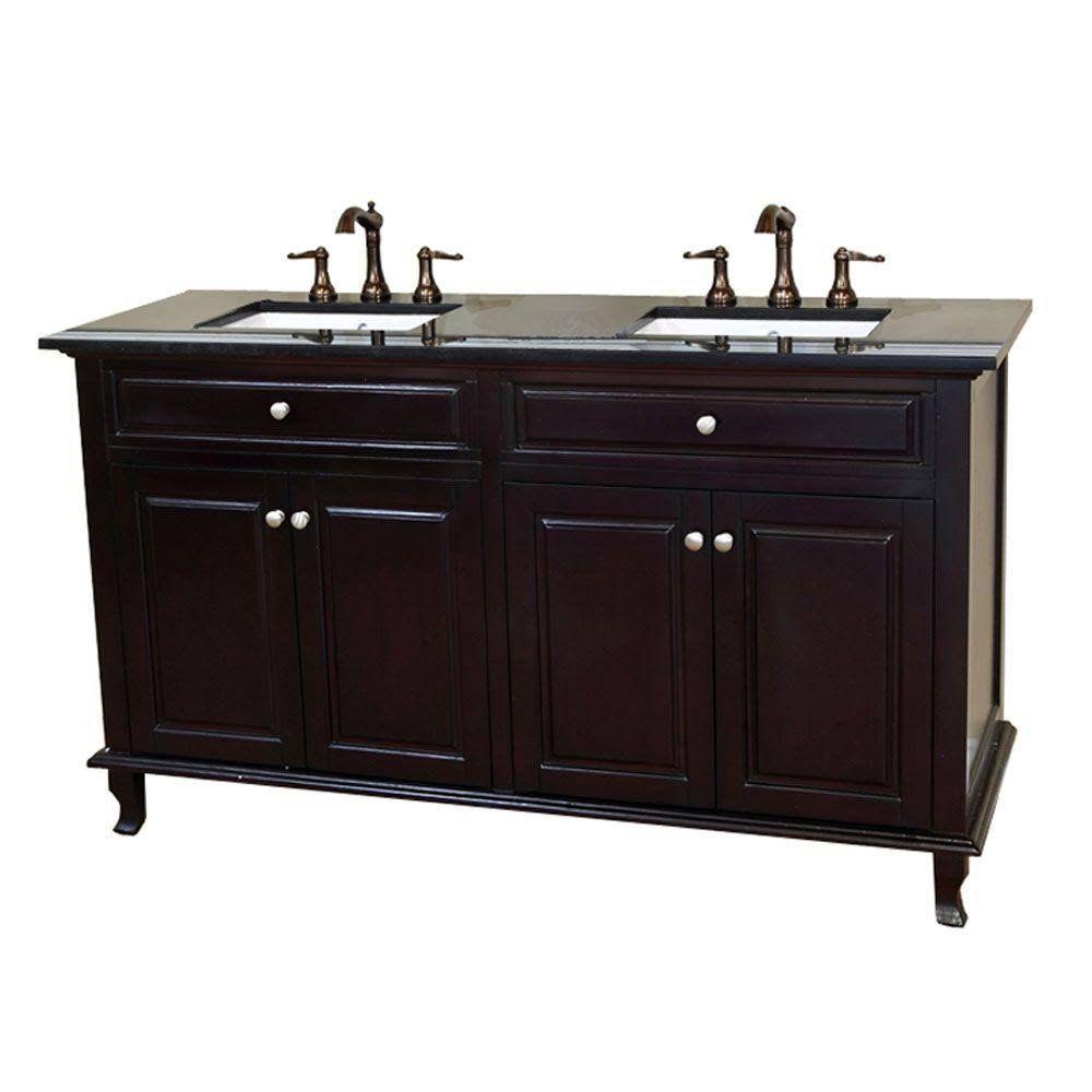 Bellaterra Home 603215 62dm Bg 62 Double Sink Vanity In Dark