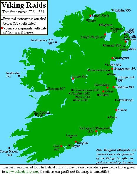 In Vikings Attacked On The Boyne And Liffey Rivers On The - East coast rivers map