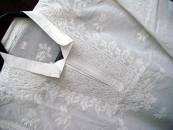 ... Balos- White With White Embroidery, Chocolate Pants ...