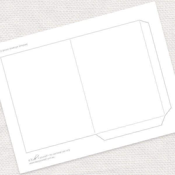 FREE A Pocket Envelope Template SVG And Cut Files Pinterest - A6 envelope printing template
