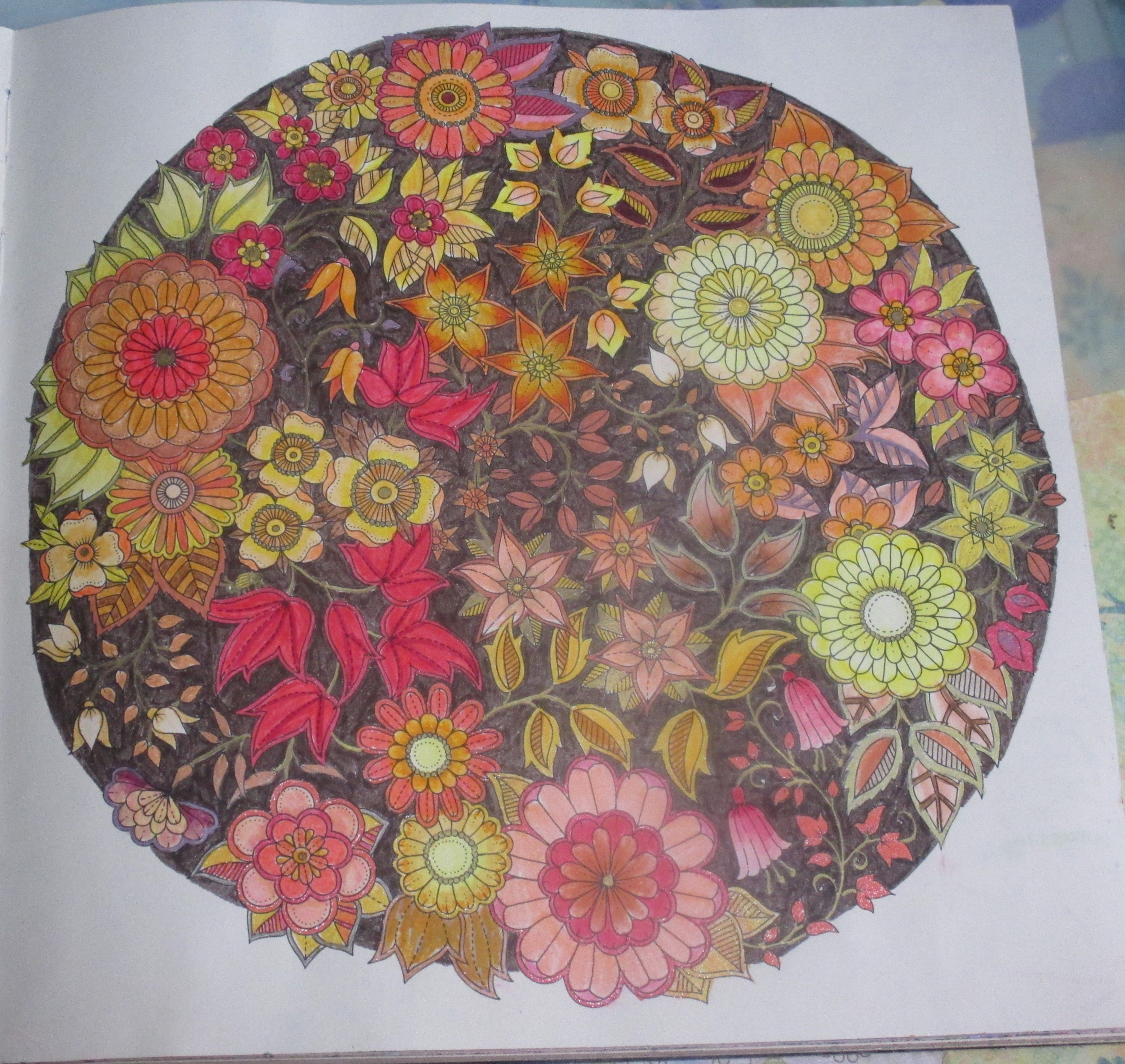 The secret garden coloring book target - Johanna Basford Secret Garden Colored In Tombow Markers By Karen Gory