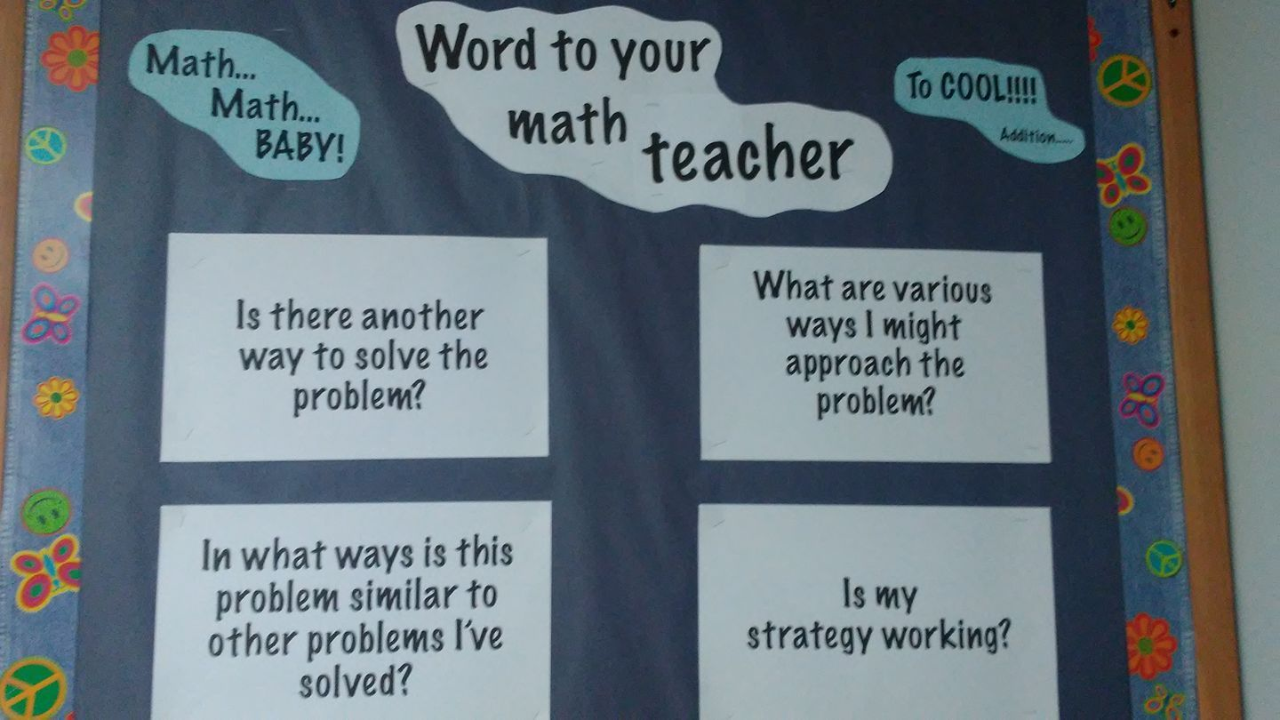 Math Word Problem Bulletin Board