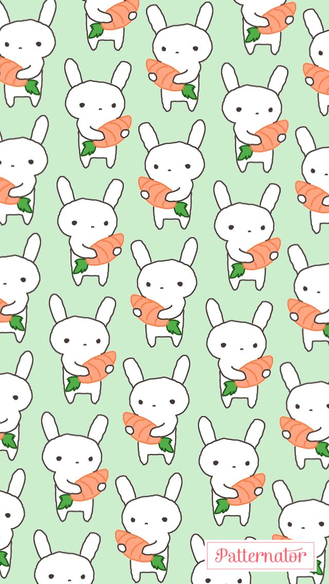 Cute Bunny Background For Iphone Made By Me No Credit Needed If You Use It Cute Bunny Hello Kitty Iphone Background