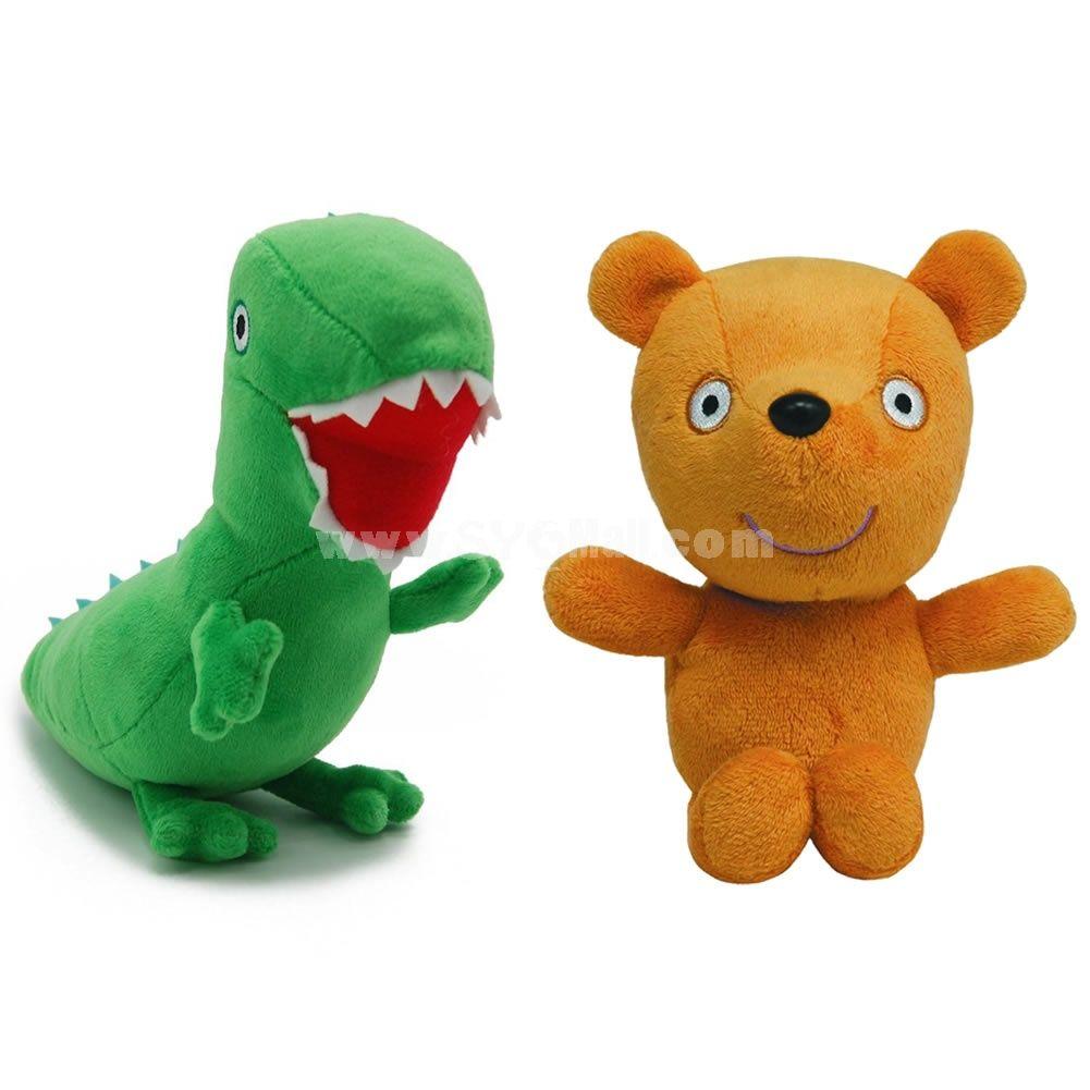 Peppa Pig Plush Toys Peppa S Teddy George S Dinosaur 2pcs Set 17 19cm 6 7 7 5inch Peppa Pig Plush Peppa Pig Toys Peppa Pig Teddy [ 1001 x 1001 Pixel ]