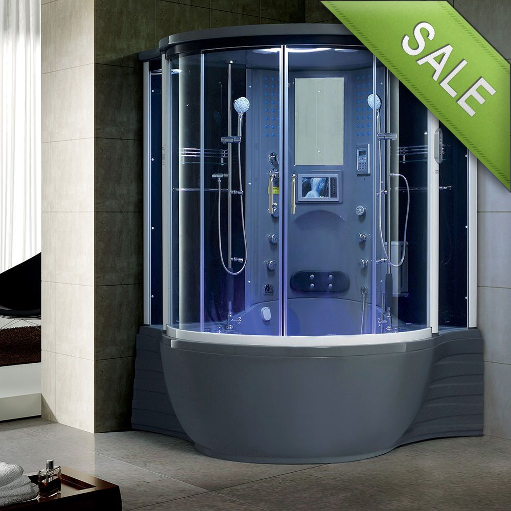 NEW 2016 Luxury Steam Shower Massage Bathtub Jetted Whirlpool Hot ...
