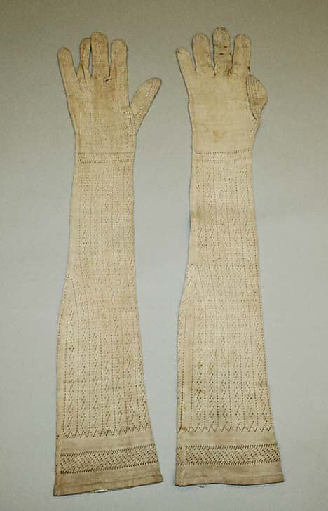 Gloves, Early 18thc., American, Made of cotton