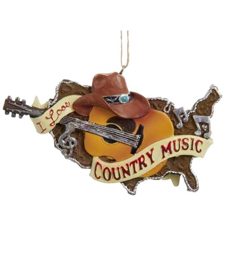 Country Music Christmas Ornament - I Love Country Music ...