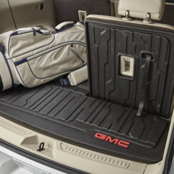 The Integrated Cargo Liner Covers Your Acadias Cargo Area Floor As Well As The Back Of The Thirdrow Seats Providing Enhanced Prot Cargo Liner Acadia Acadia Car