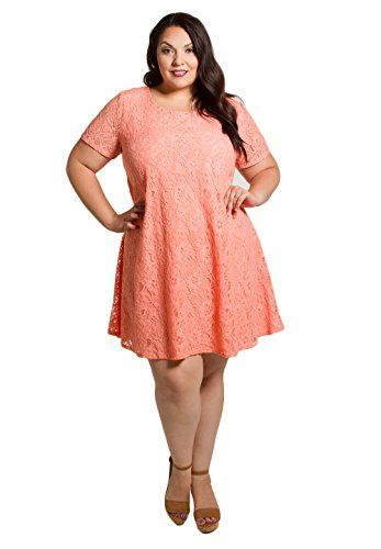 b107463a8e Sealed with a Kiss Designs Plus Size Dress Kaye Lace Dress 1X Peach -- For  more information