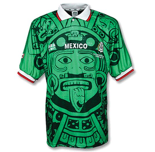 1998 Mexico Retro Home Green Soccer Jersey Shirt