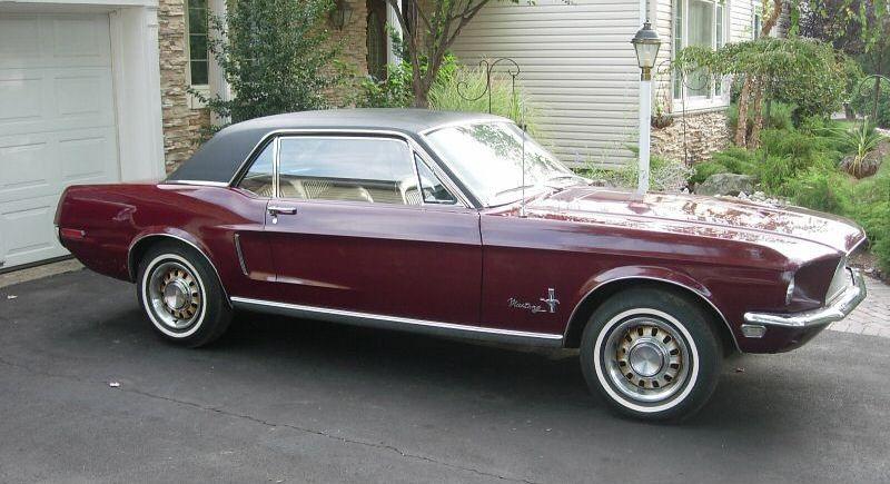 Royal Maroon 1968 Ford Mustang Paint Cross Reference Mustang Ford Mustang 1968 Mustang