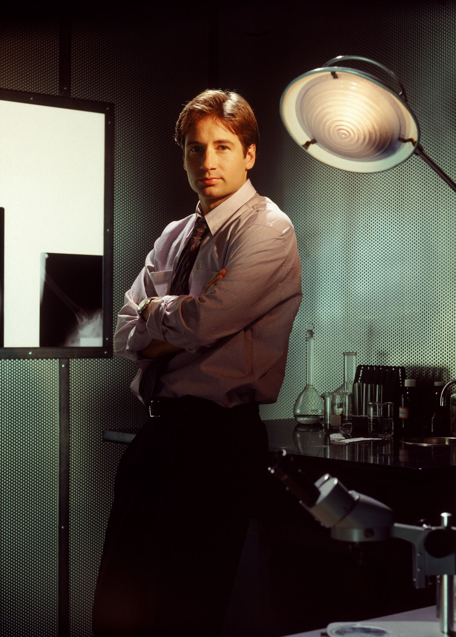 My first total crush on a TV character was Fox Mulder from The X Files. Ohhh I had it bad! He can kick down my door and yell FBI anytime :)