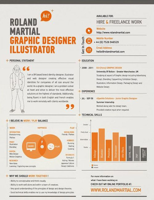 Standard Font Size For Resume 30 Great Examples Of Creative Cv Resume Design  Pinterest  Design .