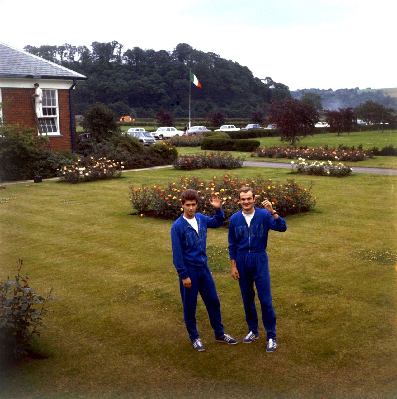 Gianni Rivera et Sandro Mazzola Italie 1966
