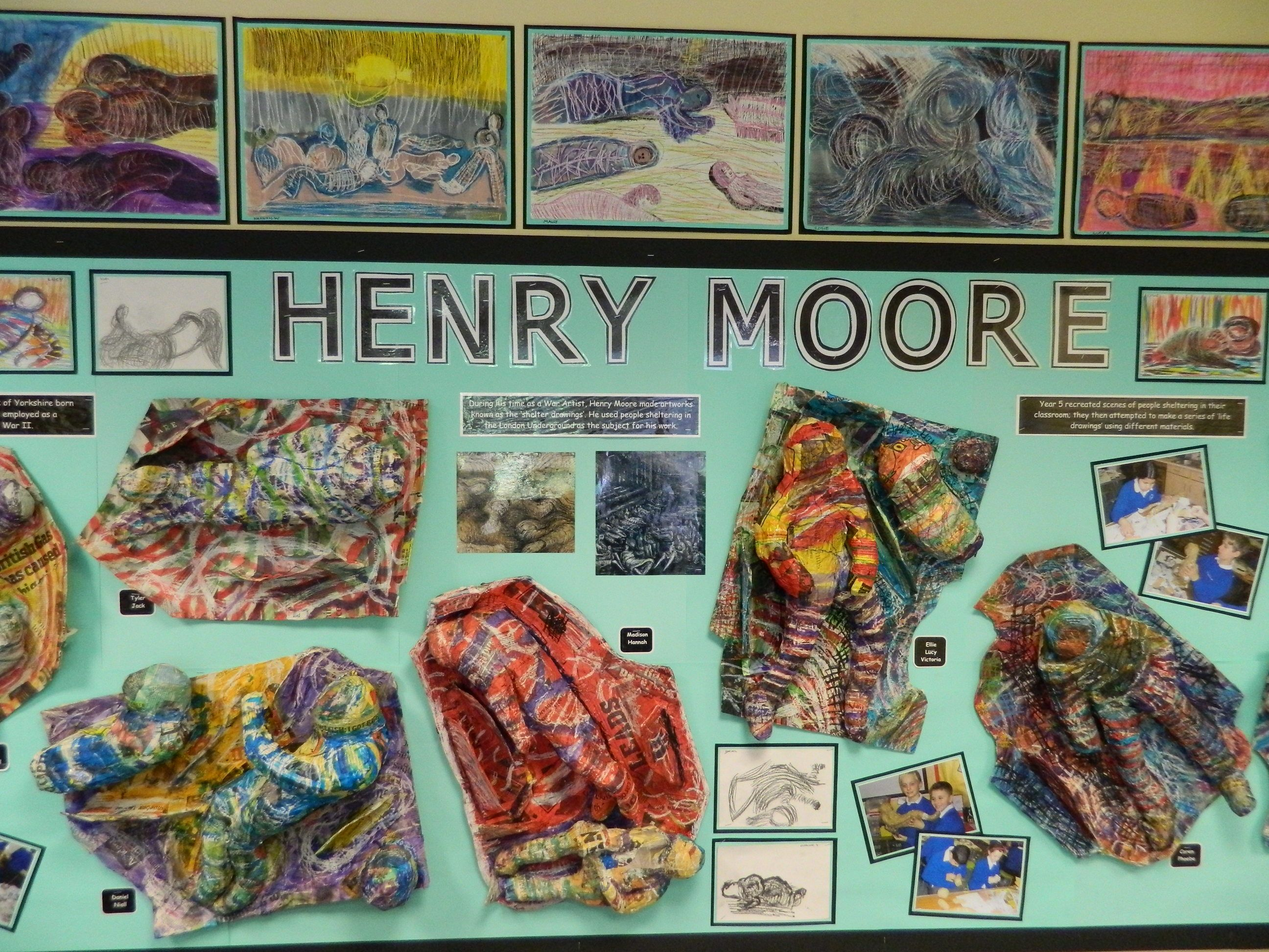Henry Moore Project Year 5 At Batteyford Yes These Are By