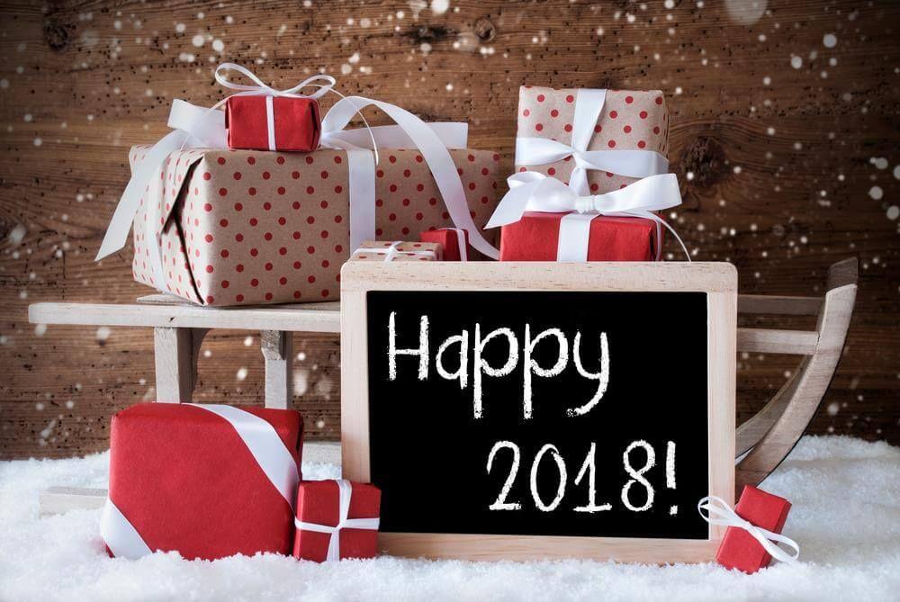 New Year 2018 Greeting ECard Image Happy new year