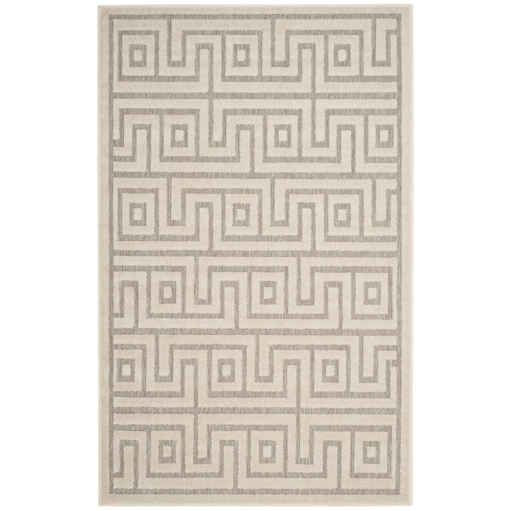 Cottage Light Gray/Cream (Light Gray/Ivory) 3 ft. 3 in. x 5 ft. 3 in. Indoor/Outdoor Rectangle Area Rug