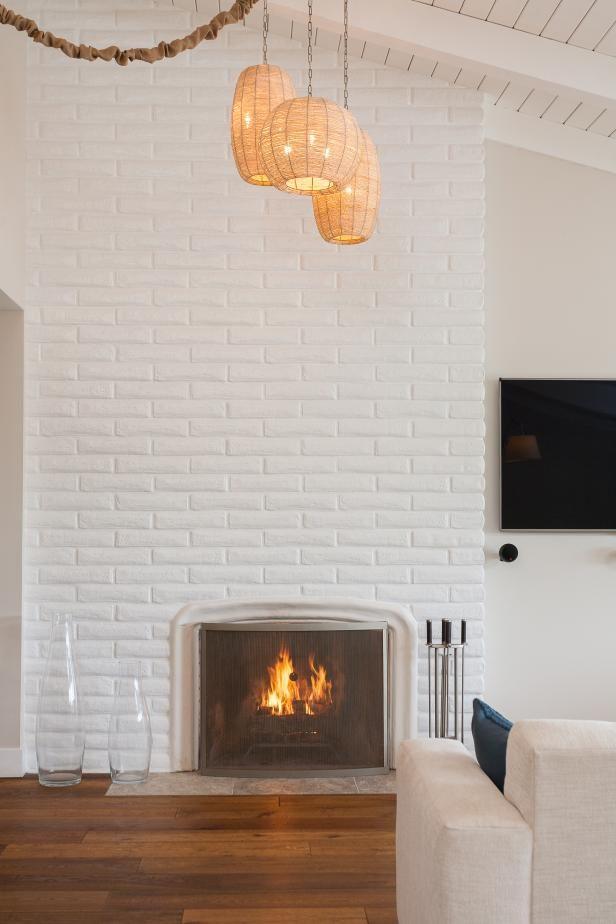 Repeindre une chemin e en marbre en brique brique - Repeindre une cheminee ...