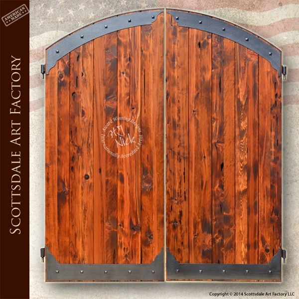 Custom Wood Gates iron and wood entrance gate hand forged