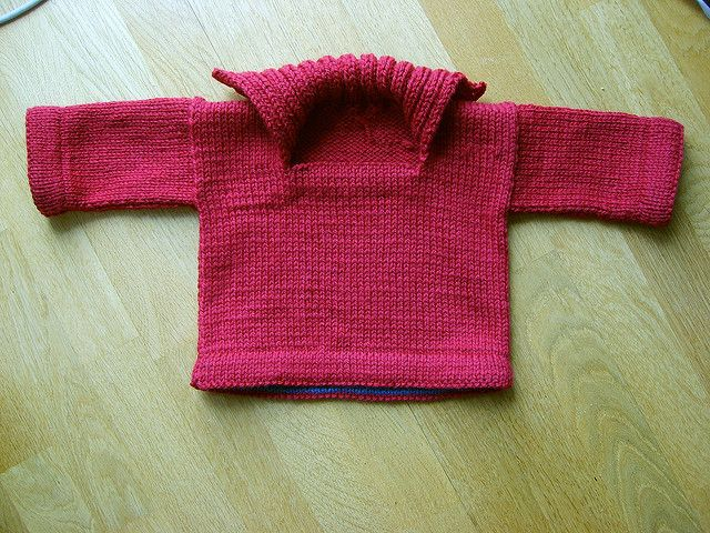 Free, supposedly easy, infant-sweater pattern from Ravelry ...