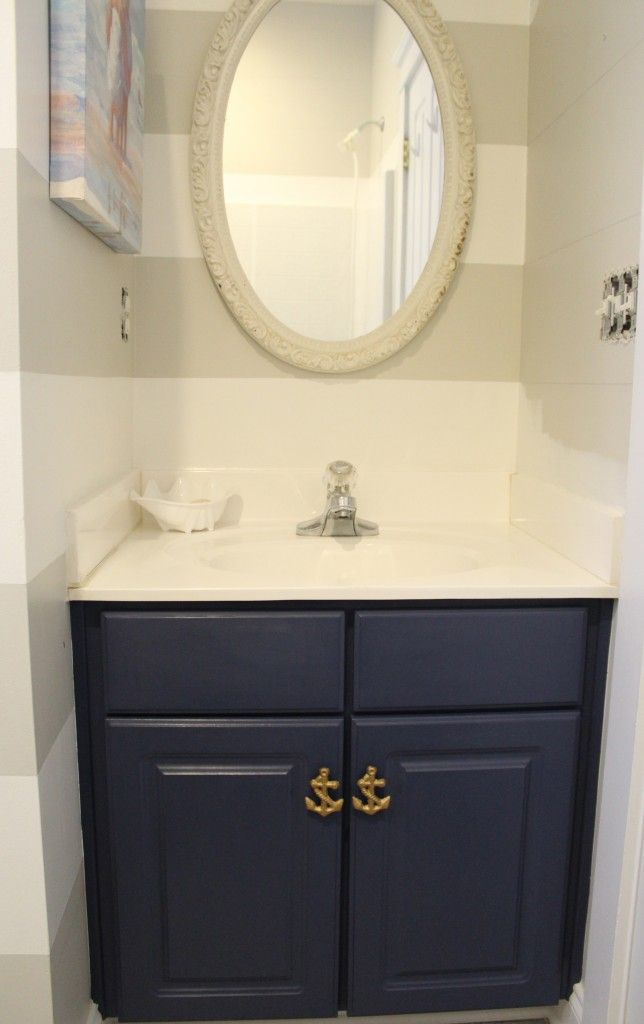 Chalk Paint Bathroom Cabinets Part - 38: Bathroom Vanity Painted With Chalk Paint