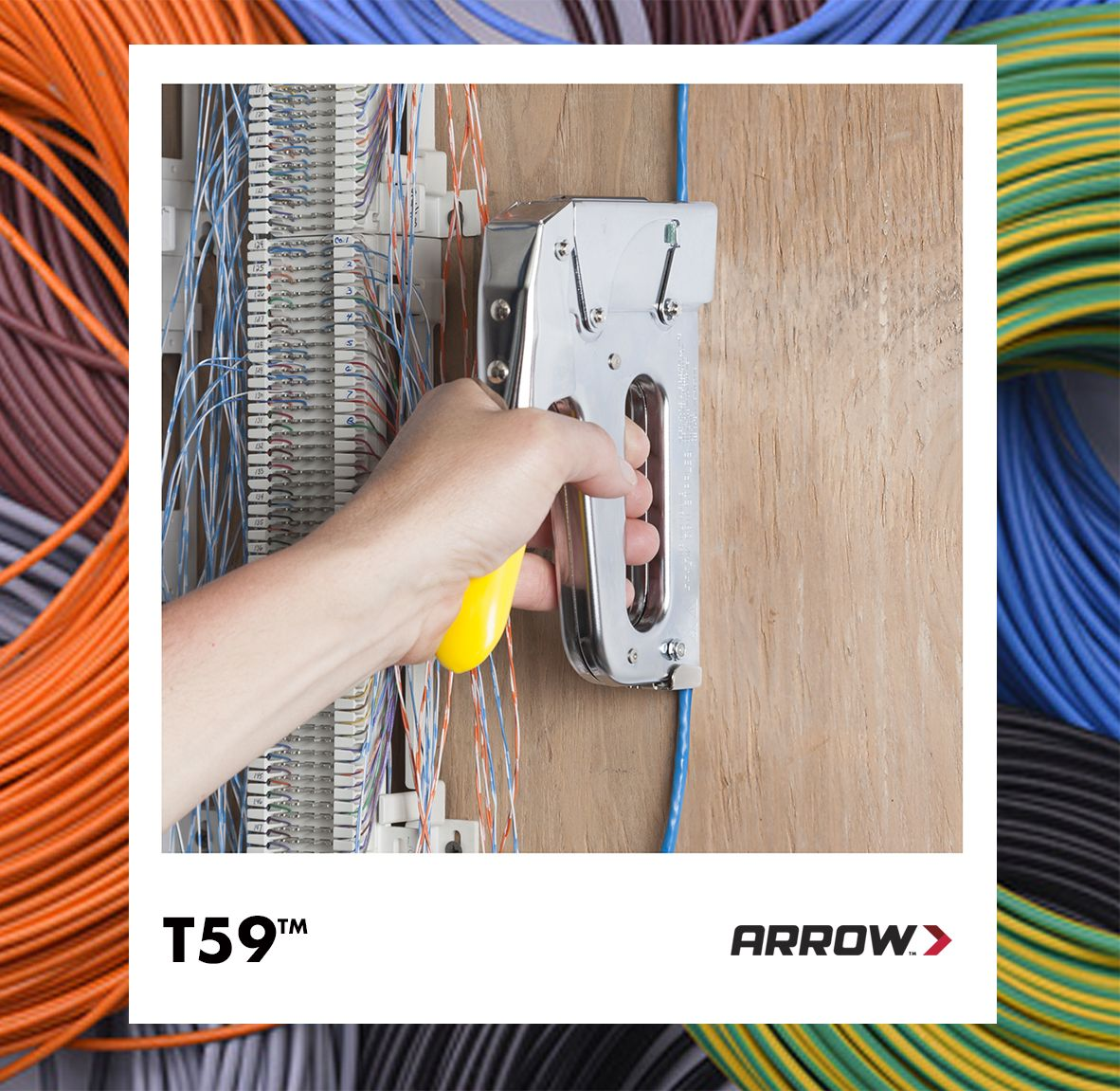T59 Staple Gun Insulated Cable Arrows Wire Low Voltage Home Wiring In The Market For A Tacker If You Need To Attach Is Up 5 16 Inch Diameter Should Use Arrow Fastener
