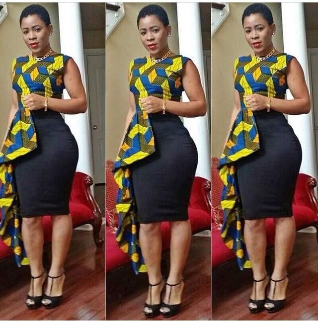 1f690d1b3e ankara printed High low shirt with midi skirt. I hope this comes in other  patterns
