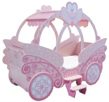 Cama para ni as carruaje de princesa cnc projects kids - Cama princesa nina ...
