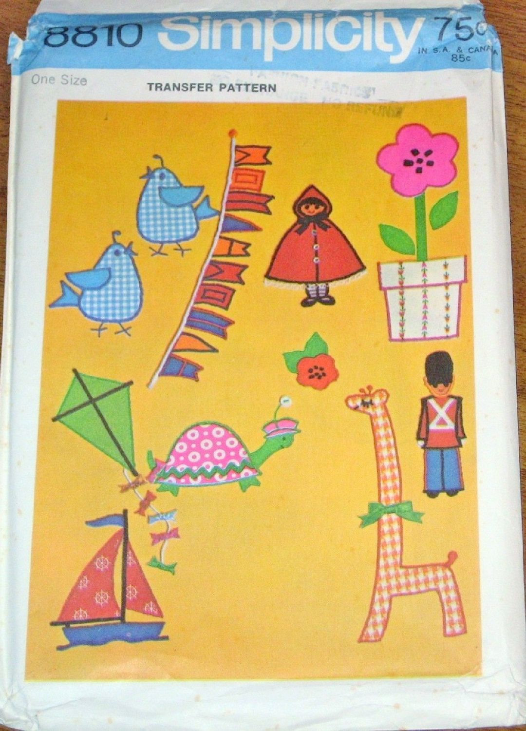 Simplicity hot iron motifs storybook characters flower kite