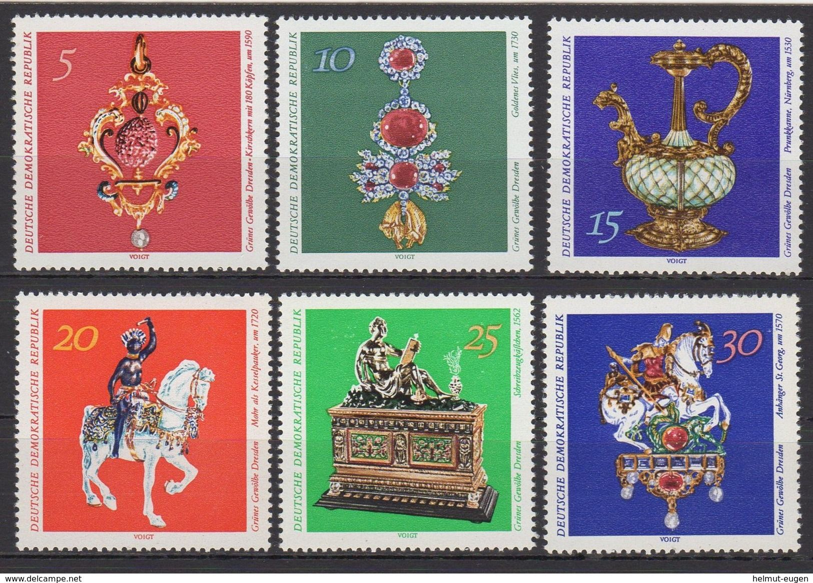 Ddr Grunes Gewolbe Dresden Kunstwerke Minr 1682 1687 Zu Verkaufen Auf Delcampe Ddr Briefmarken Dresden Kunstwerke