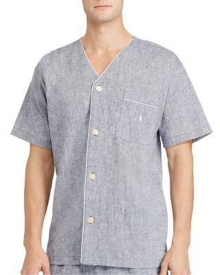 2404628caa POLO RALPH LAUREN Cotton Linen Pajama Shirt.  poloralphlauren  cloth  shirt