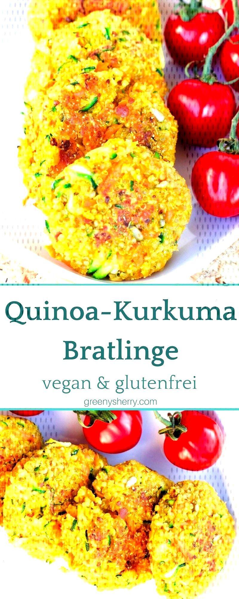 Crunchy Quinoa - Kurkuma-Pastetchen (vegan amp glutenfrei) - Greeny Sherry - Vegane Rezepte amp grünes