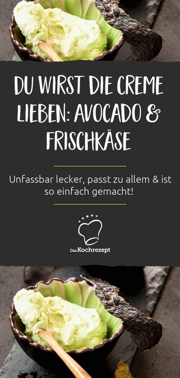 Avocadocreme mit Frischkäse Ob zum Dippen oder als Brotaufstrich: Die Avocadocreme mit Frischkäse