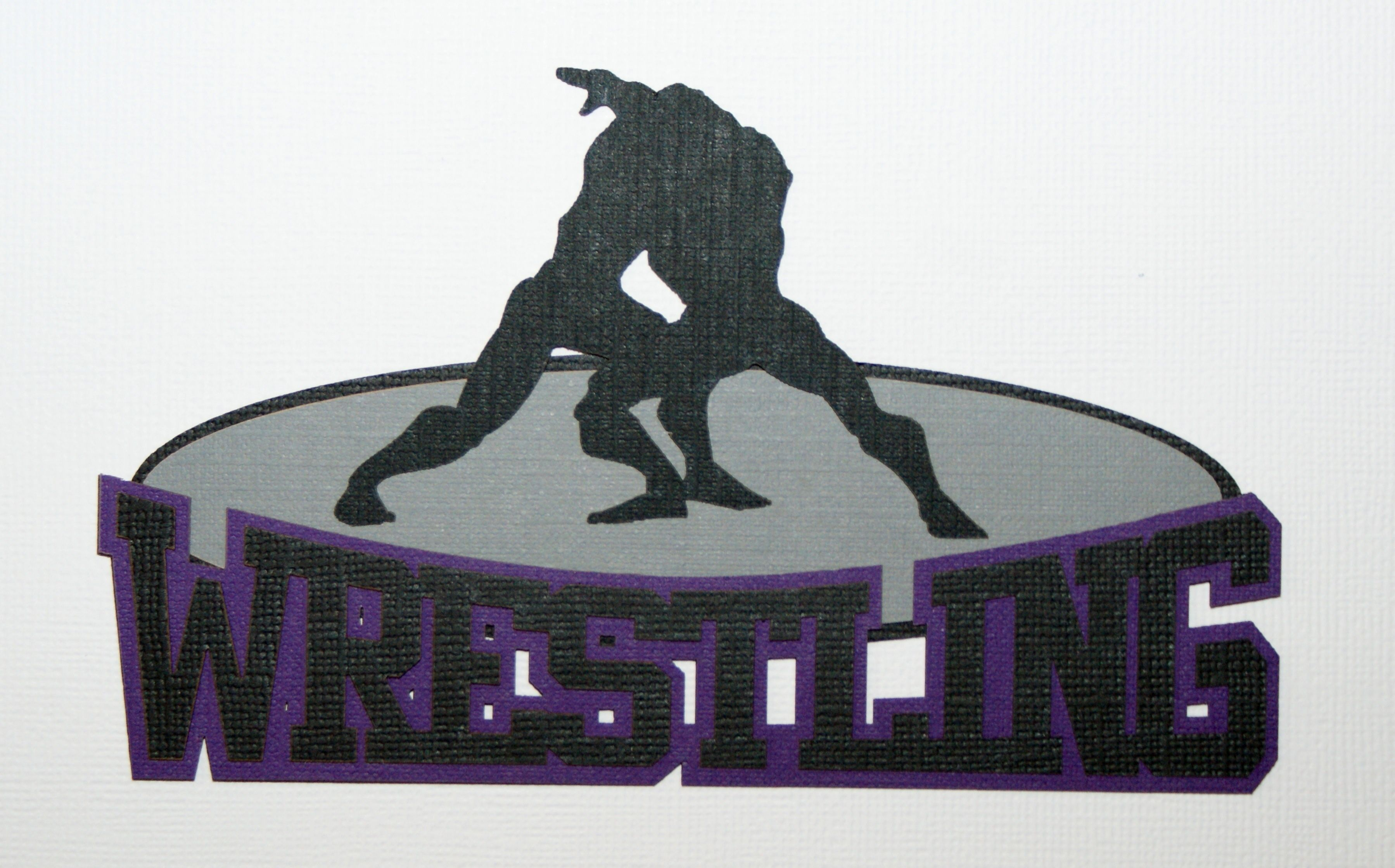 Wrestling Diecut for scrapbooking or card making.  Crop paper scissors and more on Facebook.