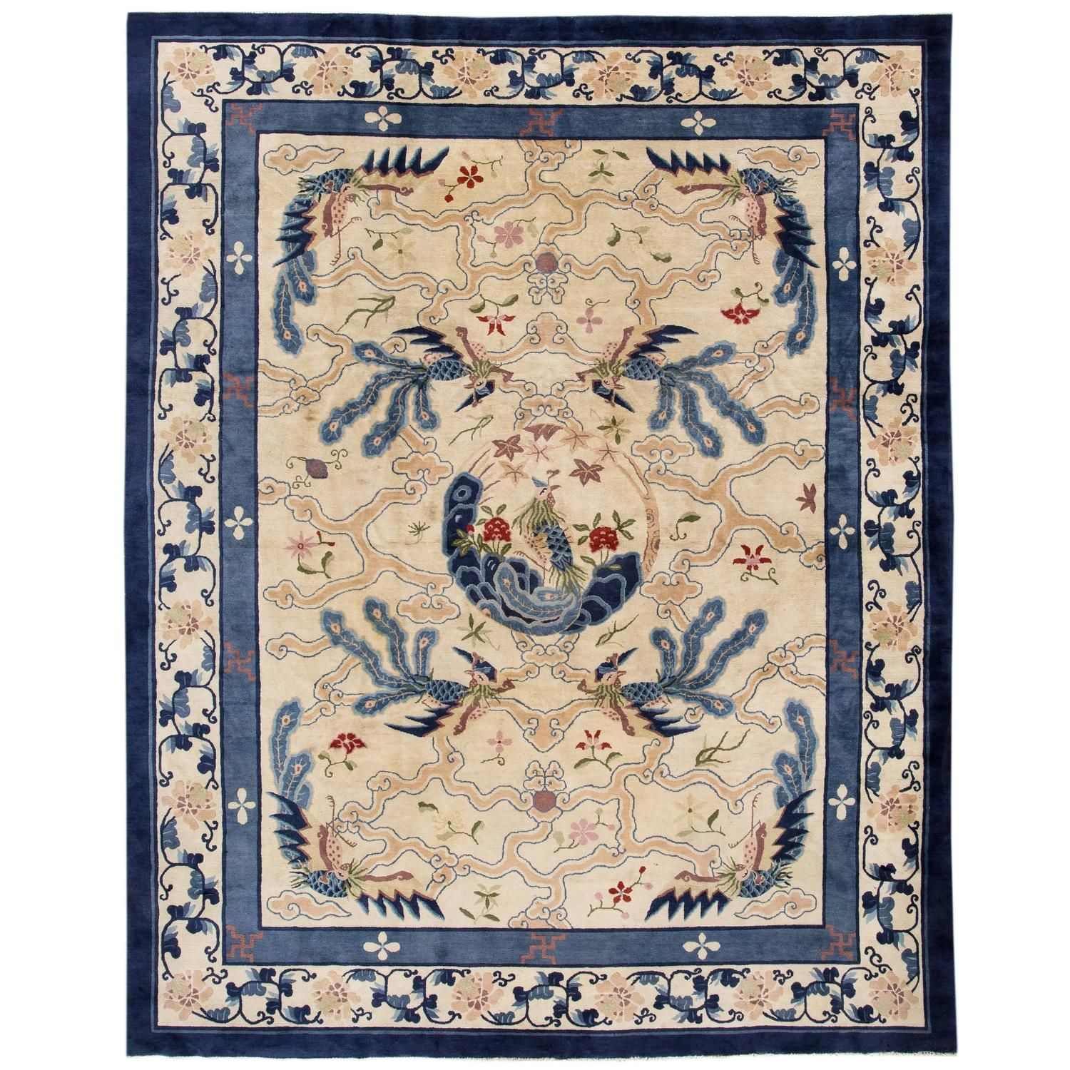 Antique Chinese Art Deco Asian Rugs Art Deco And Modern