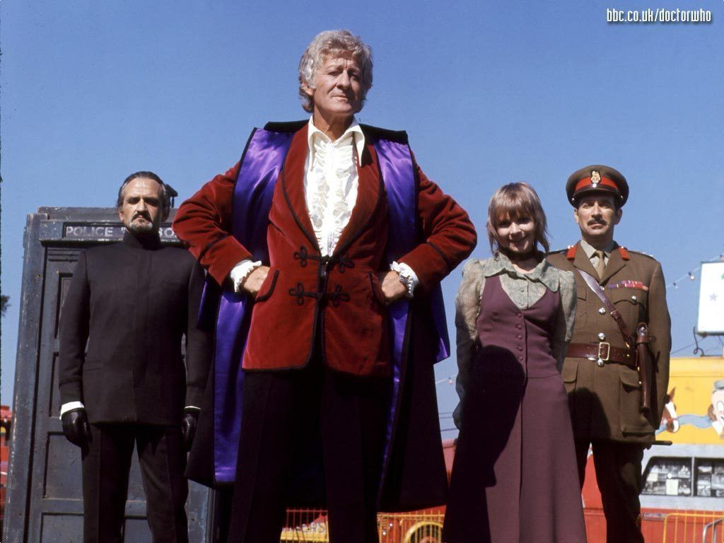 The 3rd Doctor (Jon Pertwee) With The Master (Roger