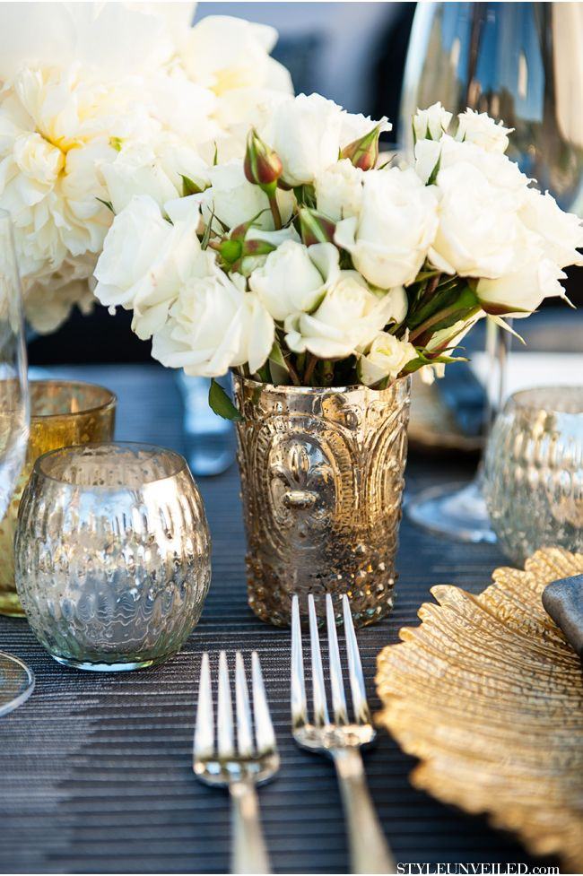 Outstanding Art Deco Inspired Tablescape Details Charcoal Grey And Home Interior And Landscaping Elinuenasavecom