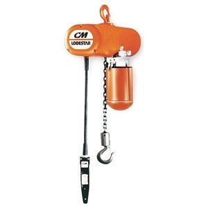 Elec Chain Hoist 1 2t 20ft Lift 16fpm By Cm Lodestar 3076 26 Electric Chain Hoist Single Speed Capacity 1 House Materials Building A House Drywall Lift