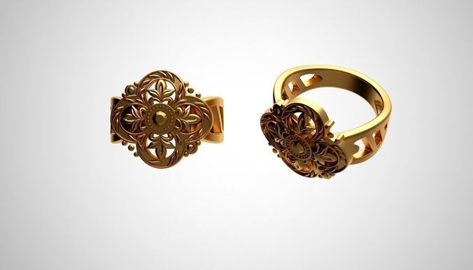 Ring Flower Style by 3DCLOUD
