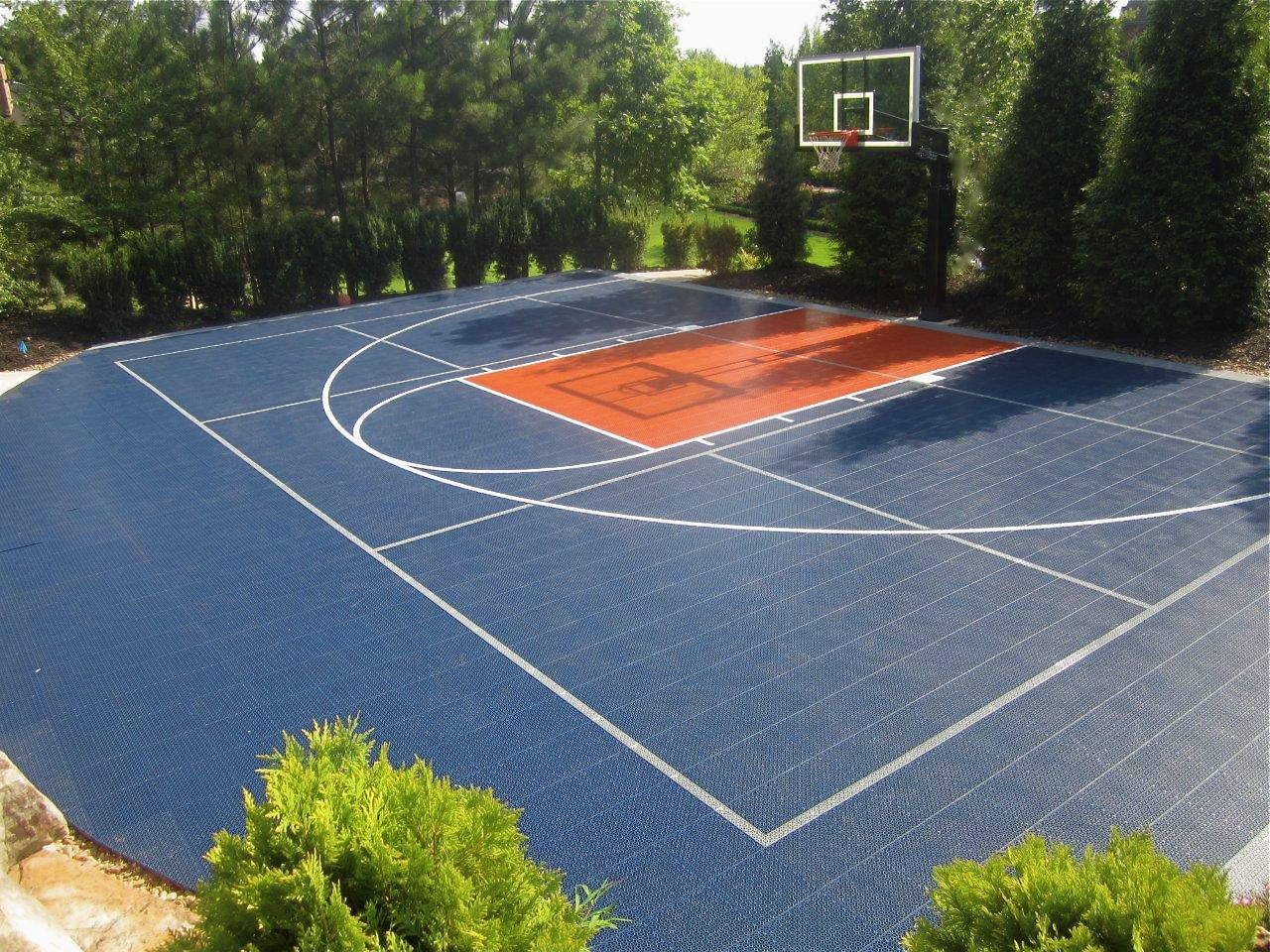 snapsports a great looking home backyard basketball court game