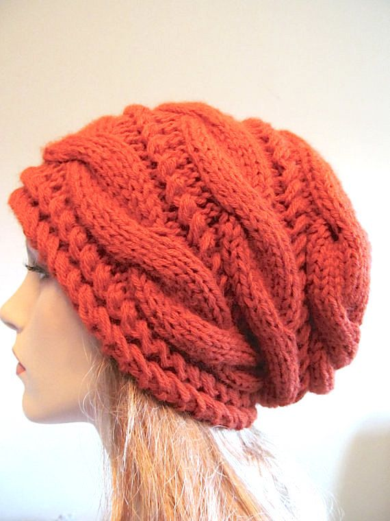 bb3ae4853de This is a hand made knitted slouchy hat
