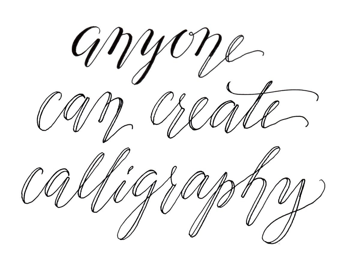 Faux calligraphy tutorial cursive and fonts