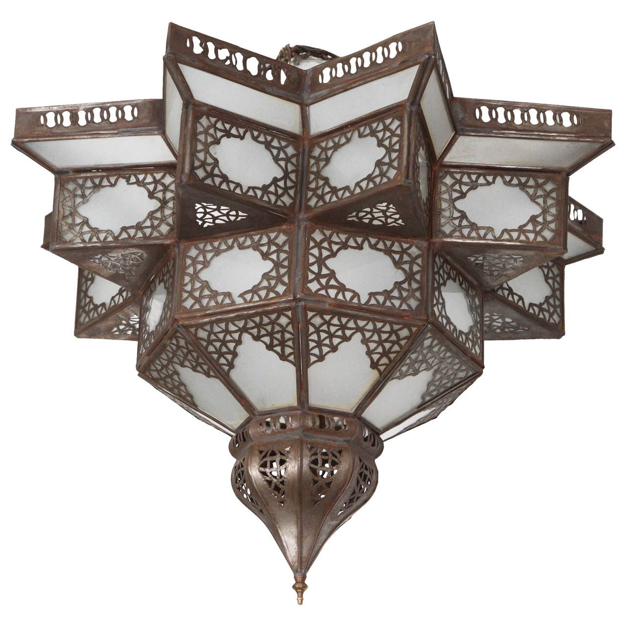 Moroccan Moorish Star Shape Frosted Glass Lantern Light Shade See More Antique And Modern Flush Mount At Http Glass Light Shades Glass Lantern Lantern Lights