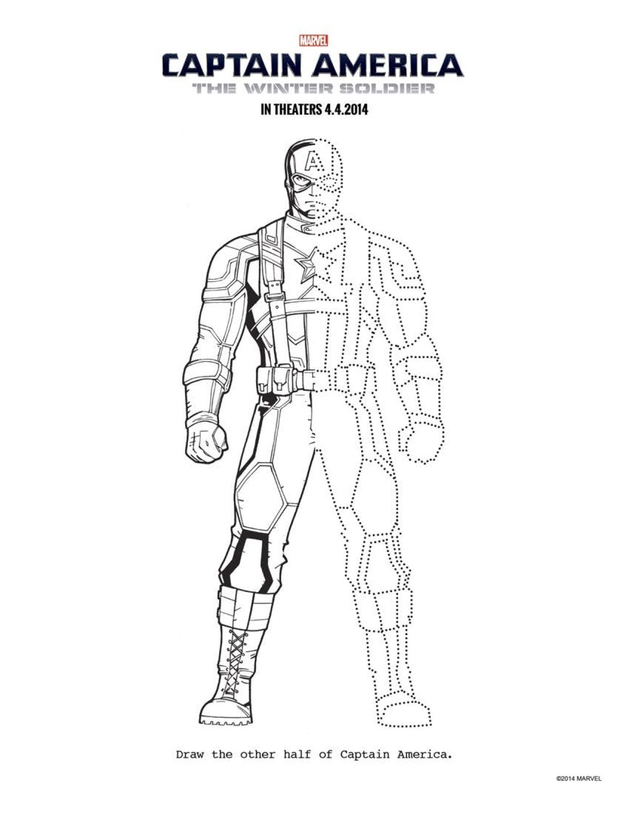 13 CAPTAIN AMERICA: THE WINTER SOLDIER coloring sheets to keep ...