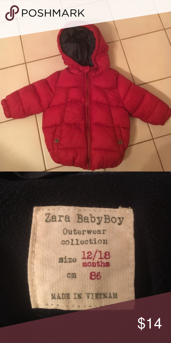 fdaf3294 Zara Baby Boy Puffer Jacket Adorable red Zara Puffer jacket. Excellent  condition, worn twice. Zara Jackets & Coats Puffers