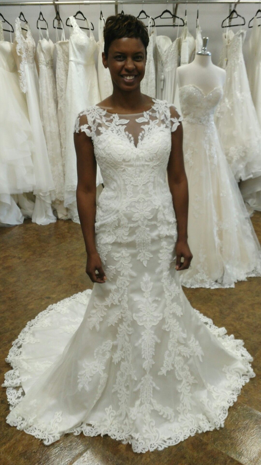 Justin Alexander Bridal lace mermaid dress at Absolute Haven Bridal ...