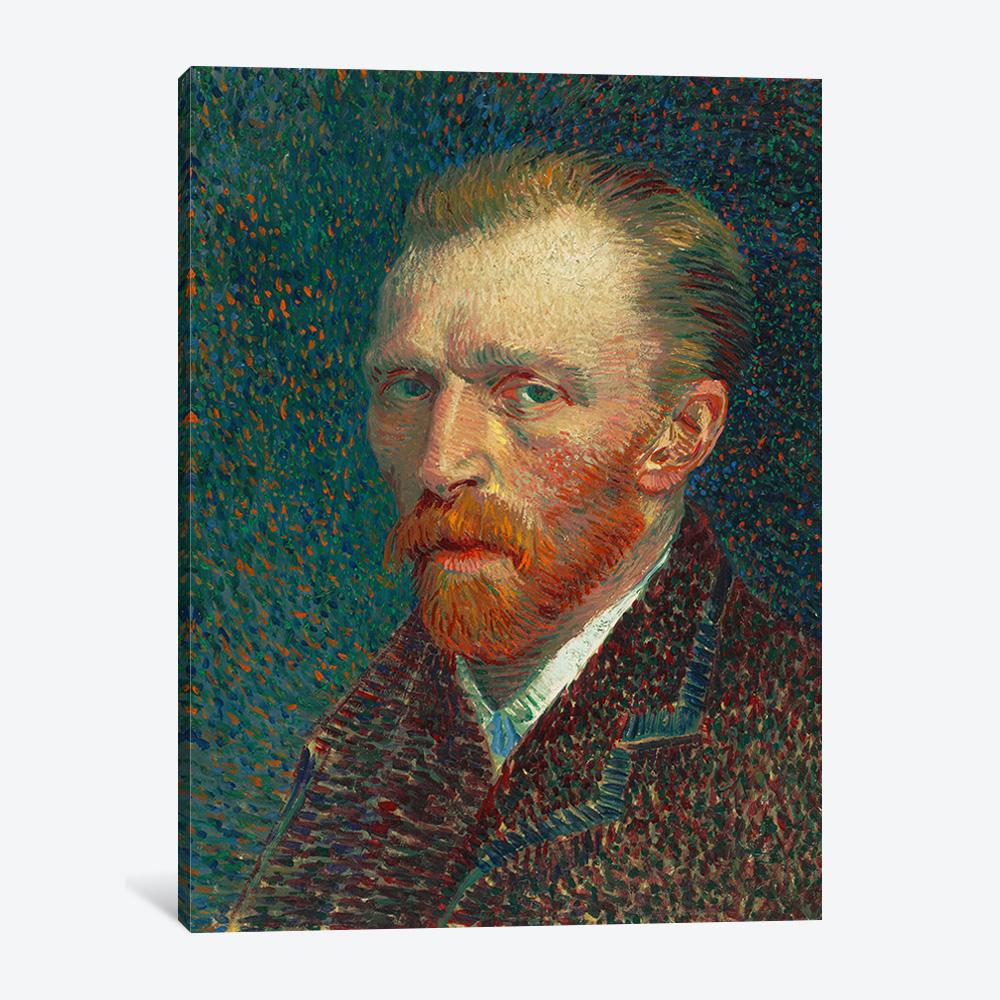 Bari Gallery بروتريه ذاتي 1 لوحة كانفس لوحة فنية جدارية للمنزل Van Gogh Self Portrait Van Gogh Portraits Van Gogh Paintings