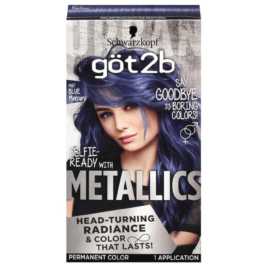 Schwarzkopf Got2b Metallic Permanent Hair Color M67 Blue Mercury